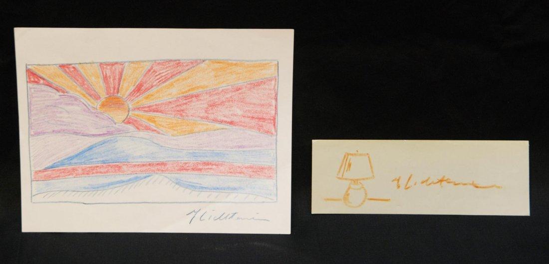 186: 2pcs ROY LICHTENSTEIN SKETCHES LAMP & SUNRISE