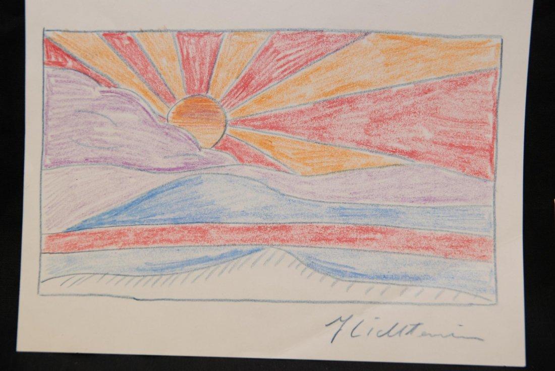 186: 2pcs ROY LICHTENSTEIN SKETCHES LAMP & SUNRISE - 2