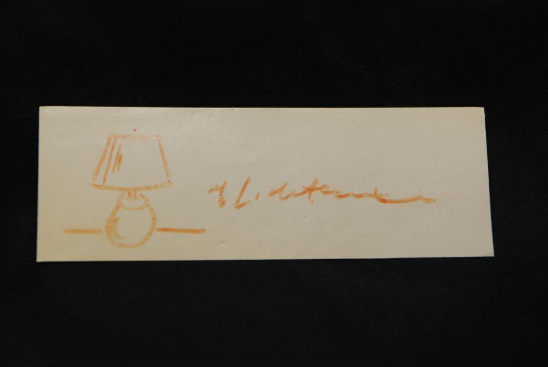 186: 2pcs ROY LICHTENSTEIN SKETCHES LAMP & SUNRISE - 3