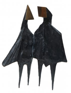 LYNN CHADWICK BRONZE SCULPTURE WINGED FIGURES
