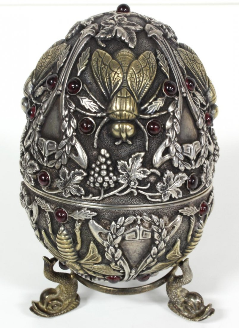 18: RUSSIAN SILVER JEWELED INSECTS EGG