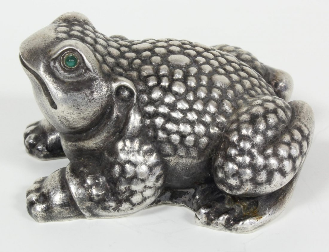 19: RUSSIAN SILVER FROG FIGURE RAPPAPORT