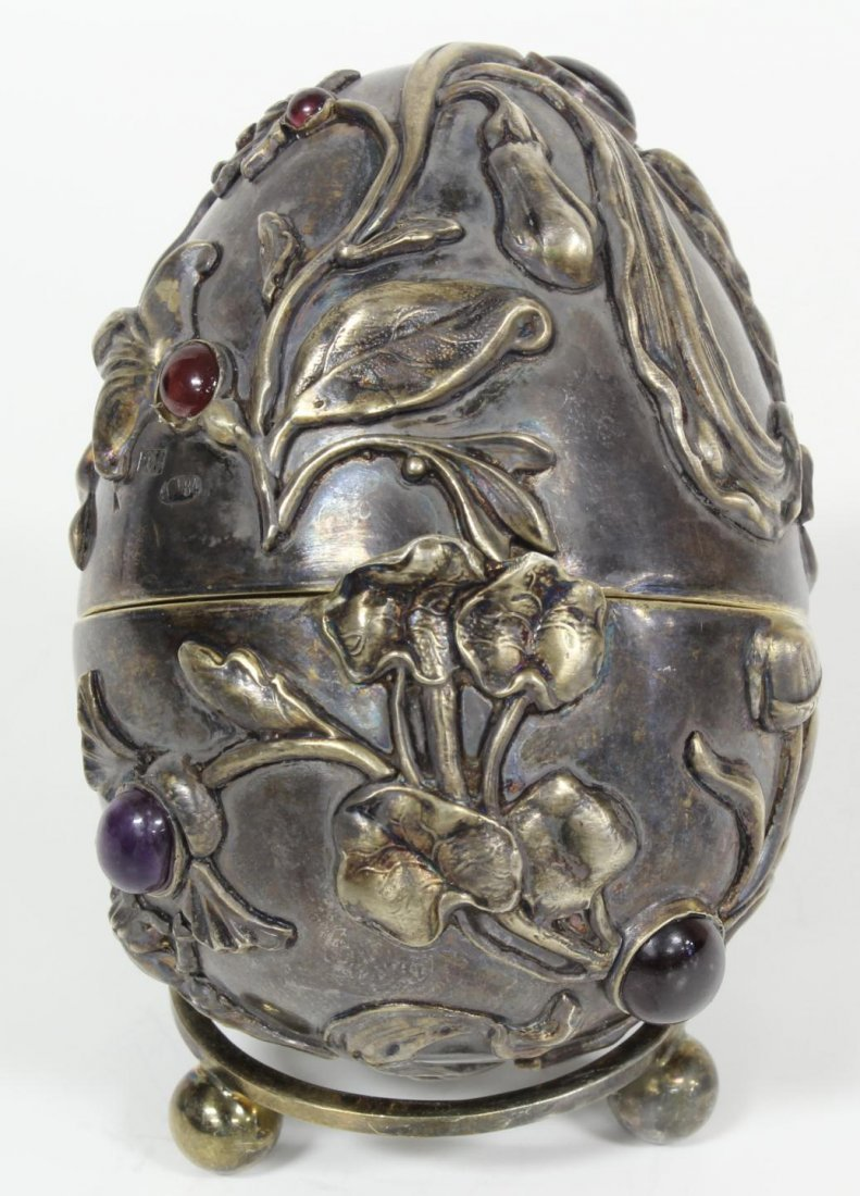 23: RUSSIAN SILVER JEWELED INSECTS EGG