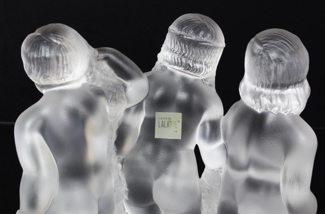 34: LALIQUE FRENCH CRYSTAL LUXEMBOURG GROUP FIGURE - 4