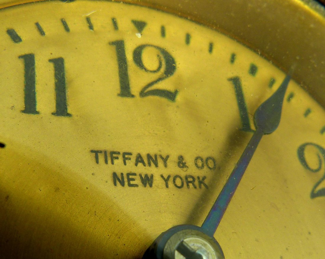 8: TIFFANY STUDIOS SPANISH BRONZE DESK CLOCK - 4