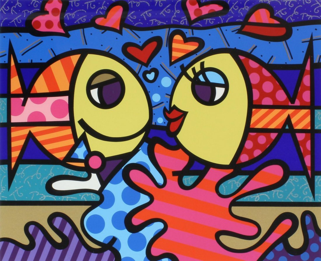 66: BRITTO HORS COMMERCE SERIGRAPH 'DEEPLY IN LOVE'