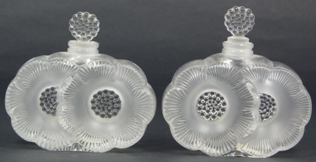 267: 3 PIECE LOT OF LALIQUE CRYSTAL PERFUME BOTTLES - 5