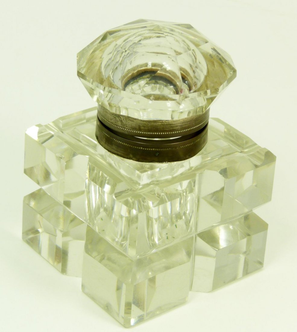 5: BACCARAT FRENCH CUT CRYSTAL INK WELL