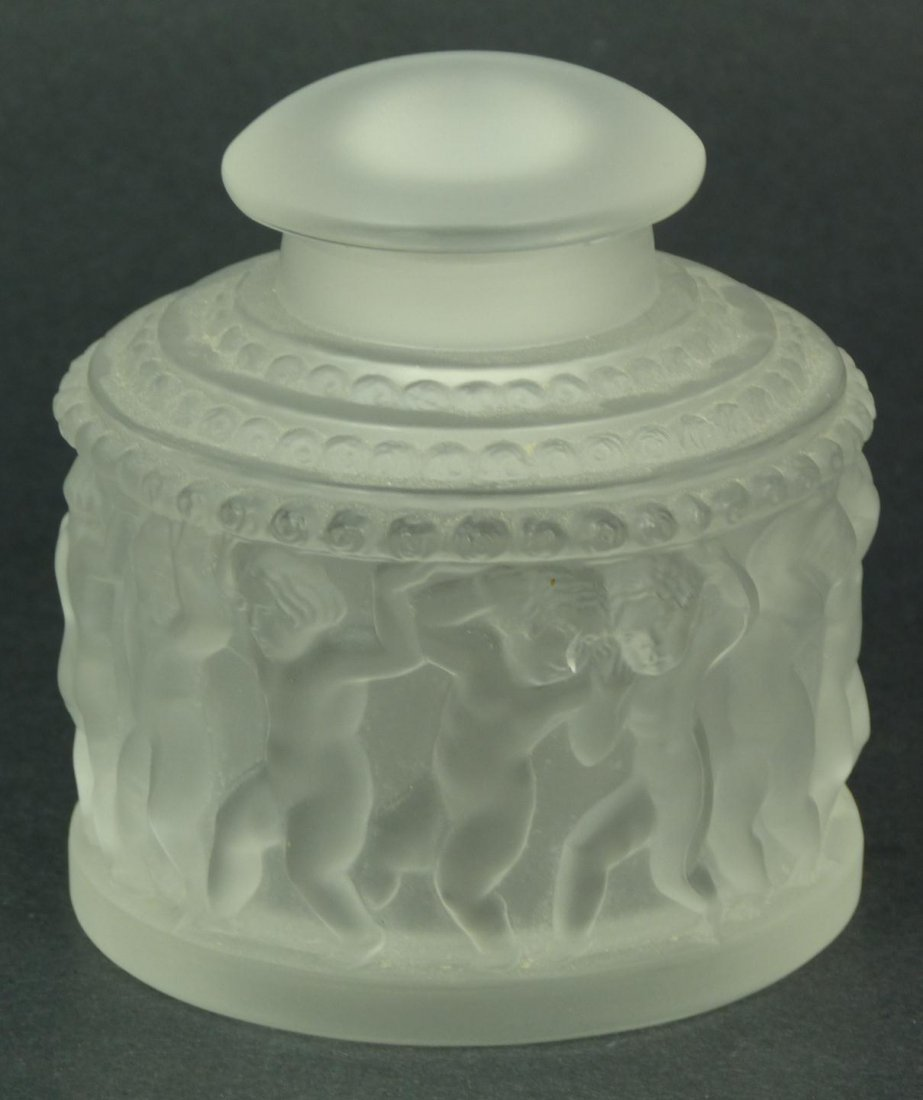 14: LALIQUE FRENCH CRYSTAL ENFANTS SCENT BOX