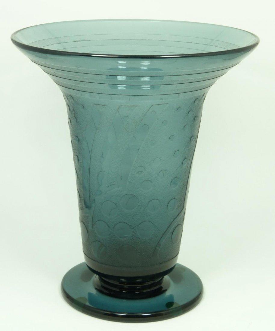 18: DAUM NANCY STYLE SMOKED GLASS VASE