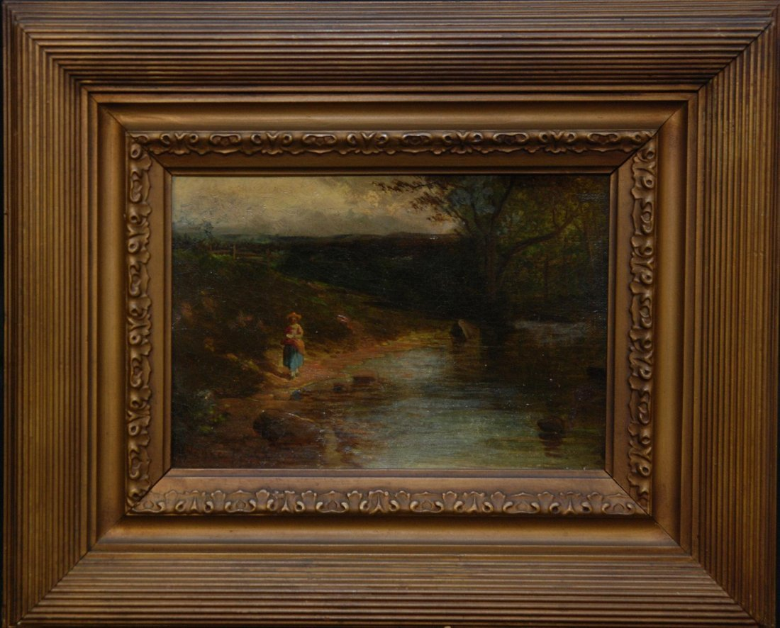 90: 19th C OIL PAINTING ON BOARD SIGNED H. YOUNG - 2