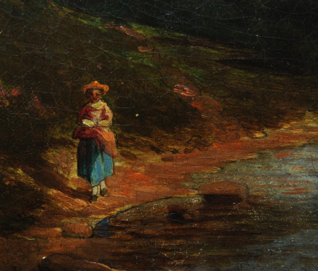 90: 19th C OIL PAINTING ON BOARD SIGNED H. YOUNG - 3