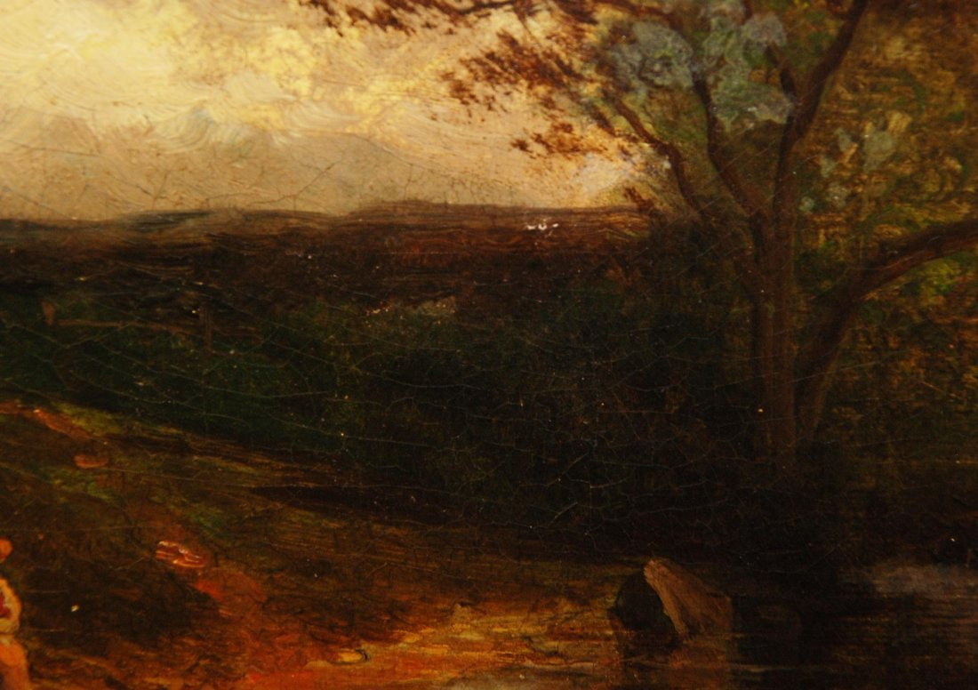 90: 19th C OIL PAINTING ON BOARD SIGNED H. YOUNG - 4