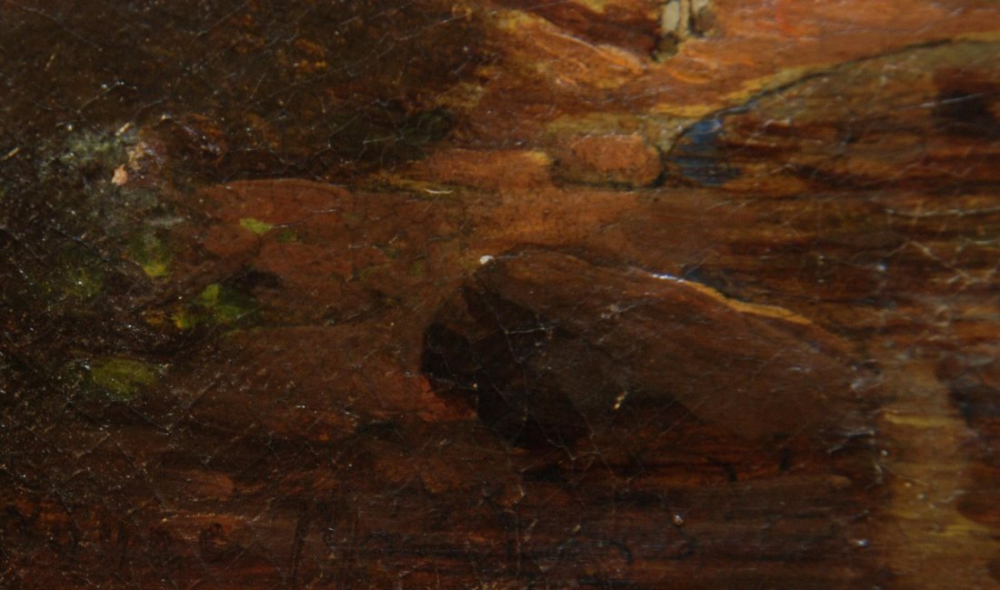 90: 19th C OIL PAINTING ON BOARD SIGNED H. YOUNG - 5