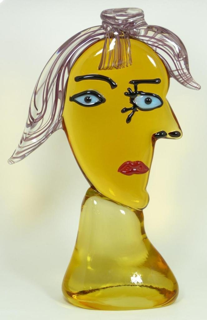 3: MURANO ART GLASS 'PICASSO' SCULPTURE OF FACE