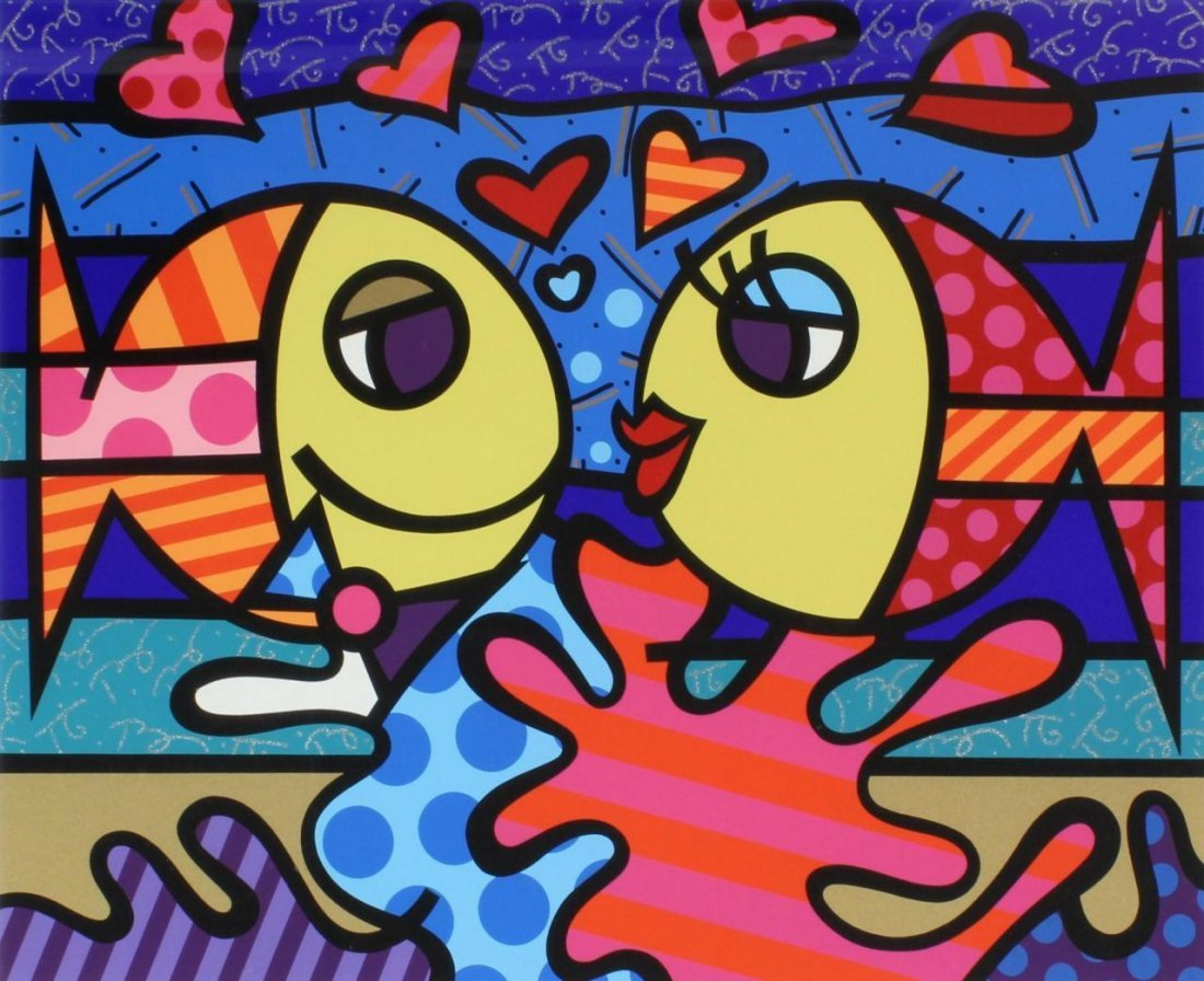 9: BRITTO HORS COMMERCE SERIGRAPH 'DEEPLY IN LOVE'