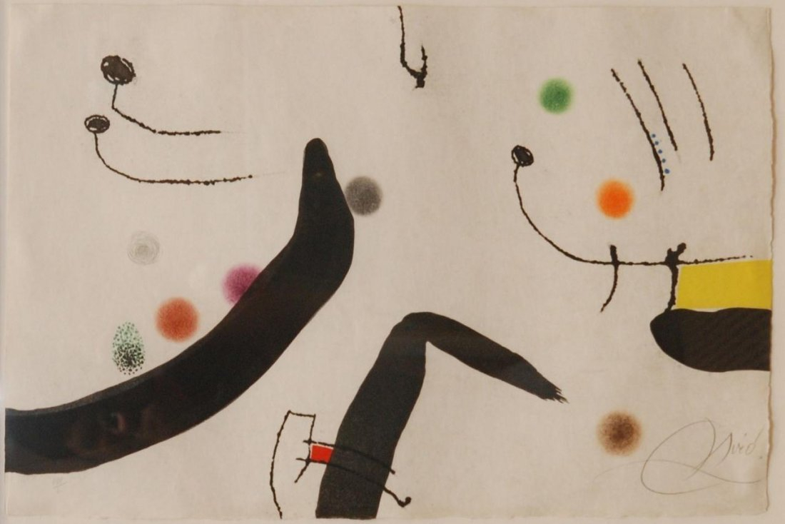 15: JOAN MIRO PENCIL SIGNED LITHOGRAPH VIII/L