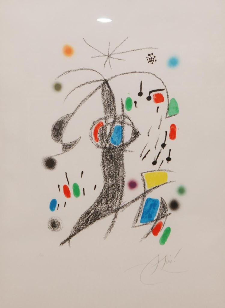 16: JOAN MIRO PENCIL SIGNED LITHOGRAPH I/XV