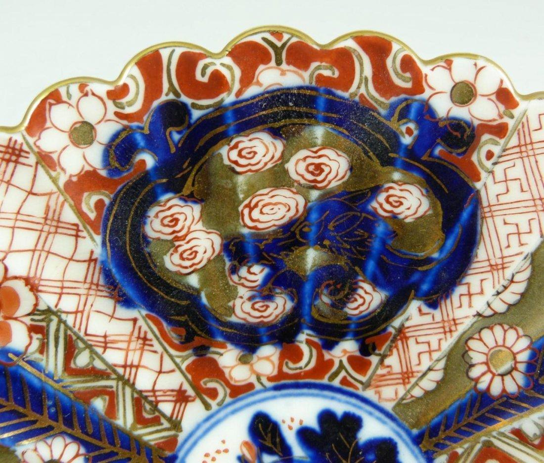 410: JAPANESE IMARI PORCELAIN SCALLOPED DISH - 2