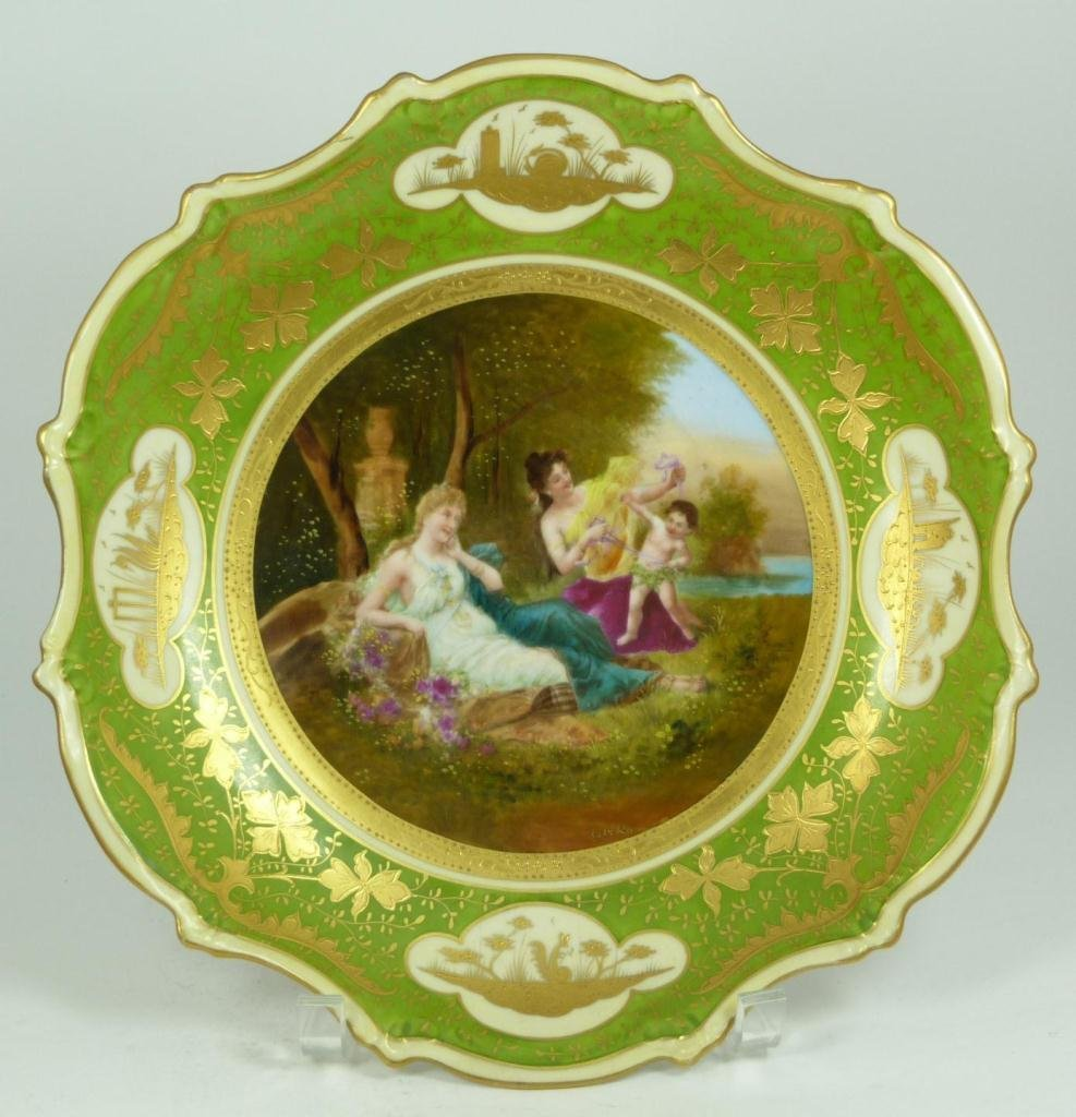 411: ANTIQUE AUSTRIAN DECORATED CHARGER