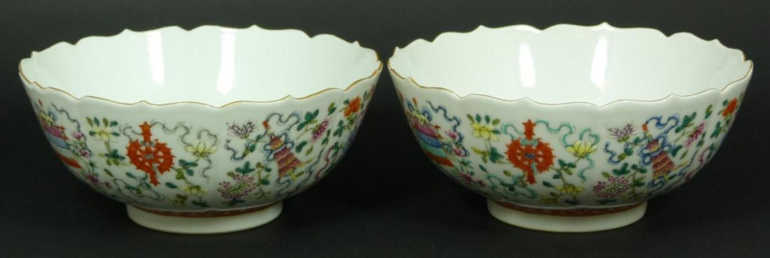 5: Pr OF 19th CENTURY CHINESE PORCELAIN BOWLS