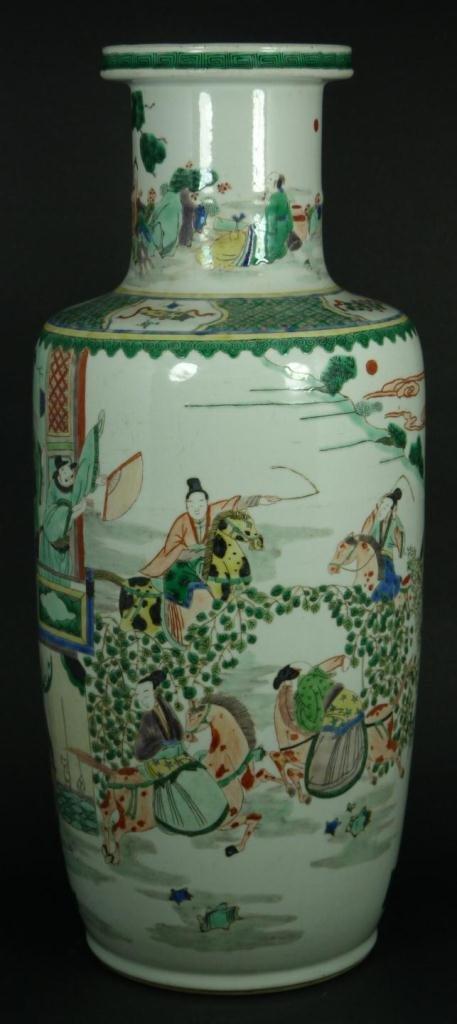 5: 18th CENTURY CHINESE WUCAI PORCELAIN VASE
