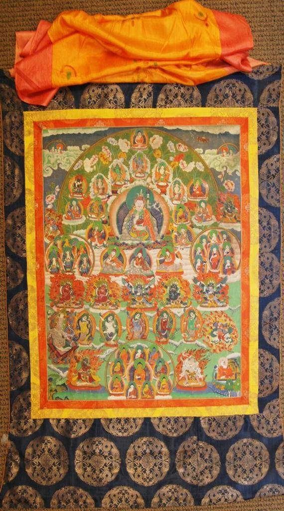 423: 18th CENTURY TIBETAN THANGKA OF BUDDHA