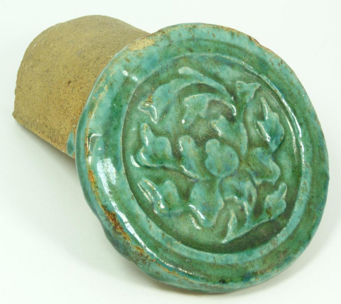 415: CHINESE MING DYANSTY POTTERY ROOF TILE