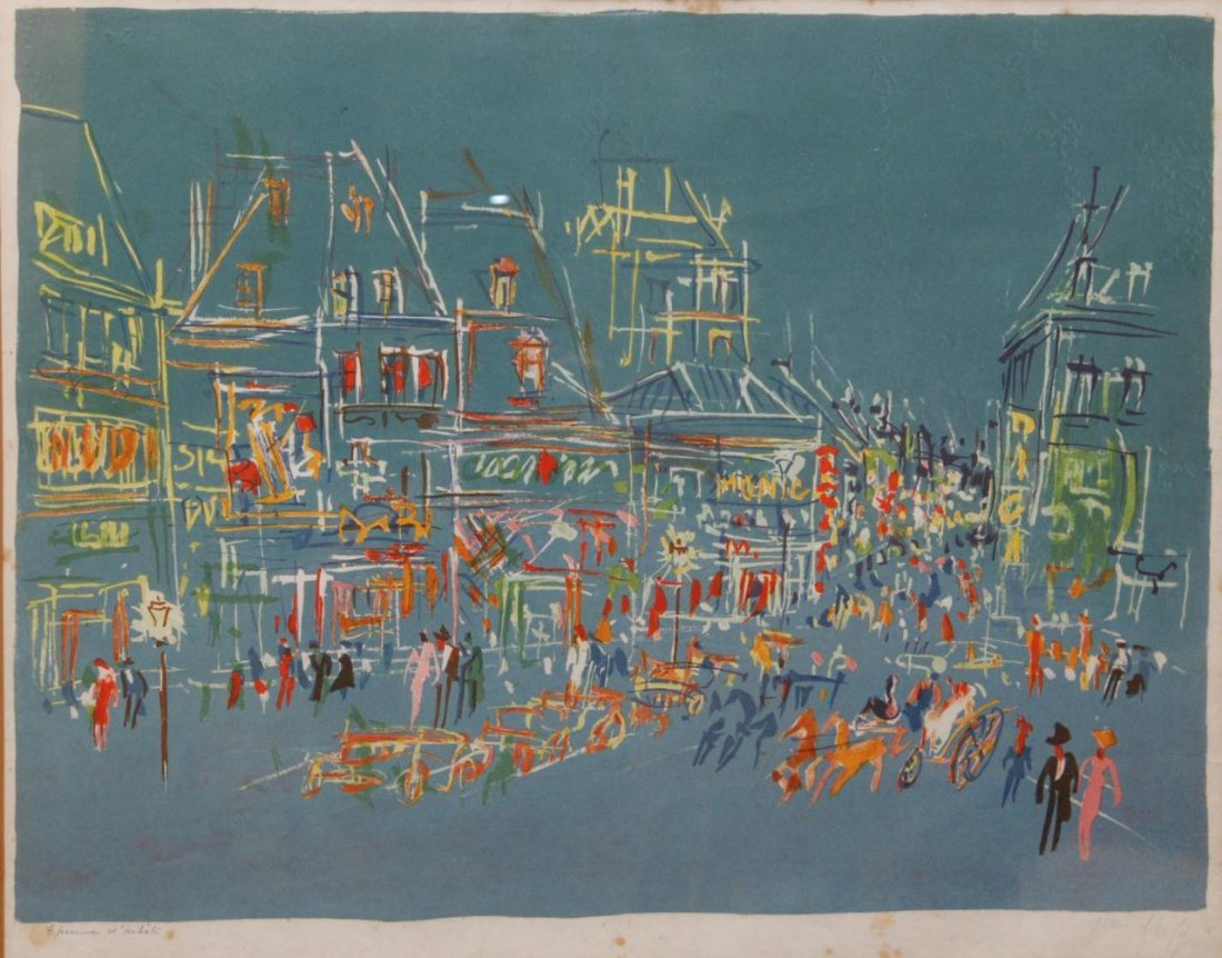 32: JEAN DUFY HAND SIGNED ARTIST PROOF LITHOGRAPH