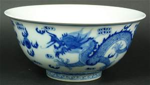 442: EARLY TO MID 20th C CHINESE BLUE & WHTIE BOWL