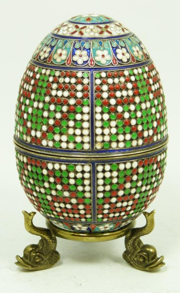 415: RUSSIAN SILVER FOOTED EGG BOX