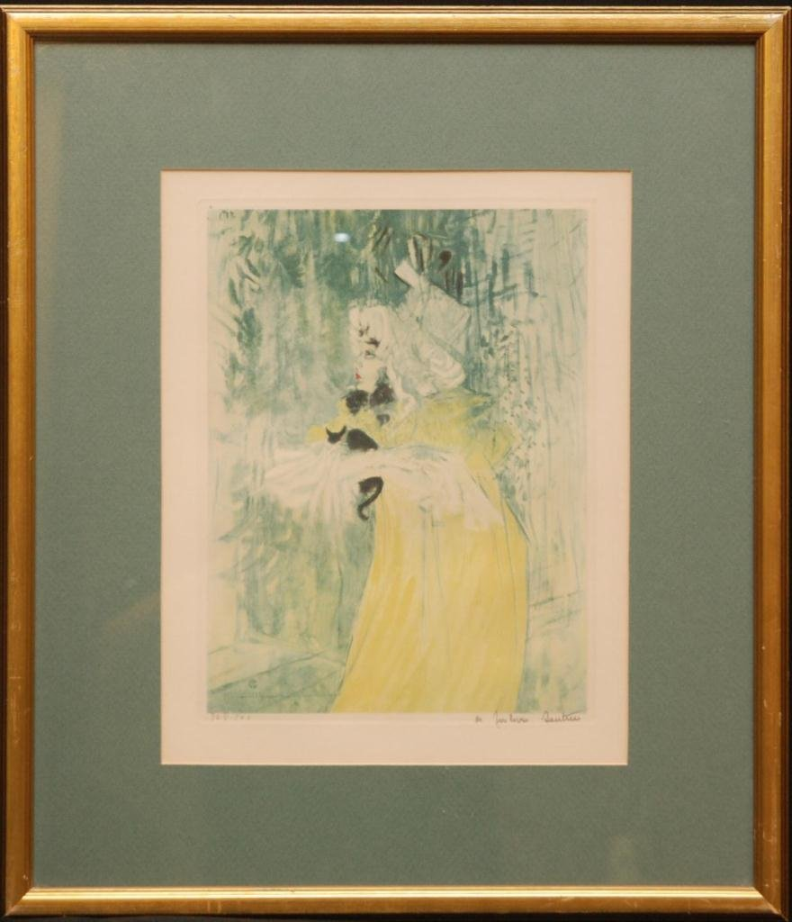 544: TOULOUSE LAUTREC 'MAY BELFORT & CAT' LITHOGRAPH - 2