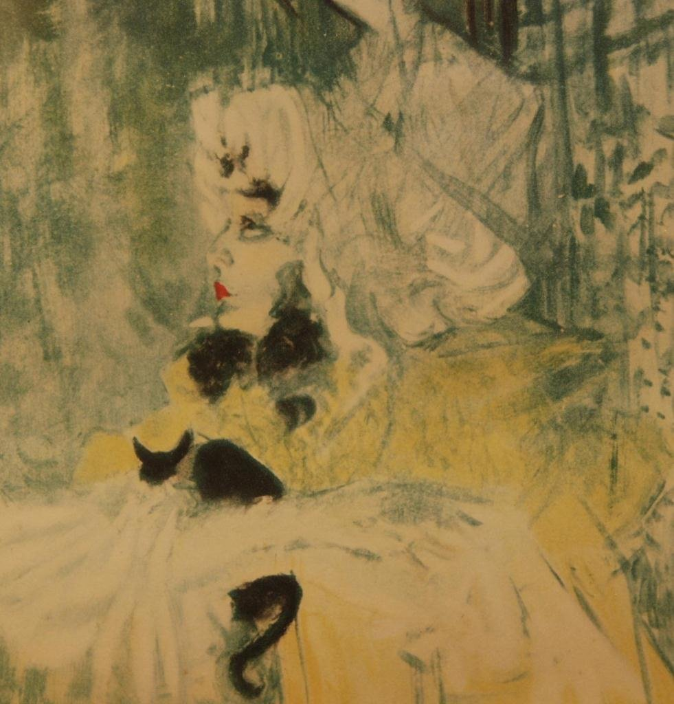 544: TOULOUSE LAUTREC 'MAY BELFORT & CAT' LITHOGRAPH - 3