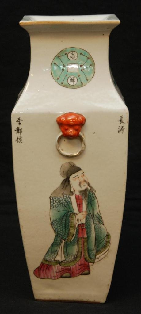 2: 19th CENTURY CHINESE SQUARE FOLKLORE VASE