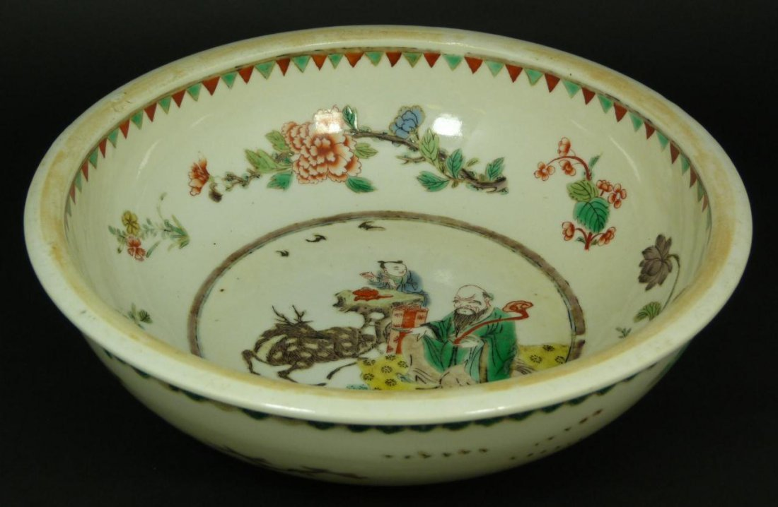 10: 18th CENTURY CHINESE WUCAI PORCELAIN BOWL