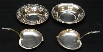 236 4PCS ASSORTED STERLING SILVER DISHES