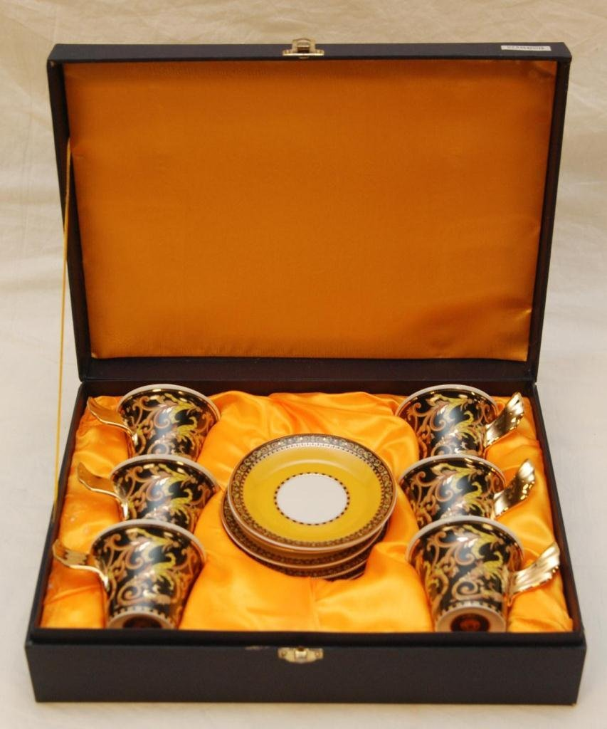 12pc ROSENTHAL VERSACE BAROCCO CUP & SAUCER SETS