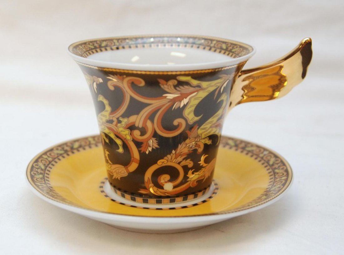 12pc ROSENTHAL VERSACE BAROCCO CUP & SAUCER SETS - 2