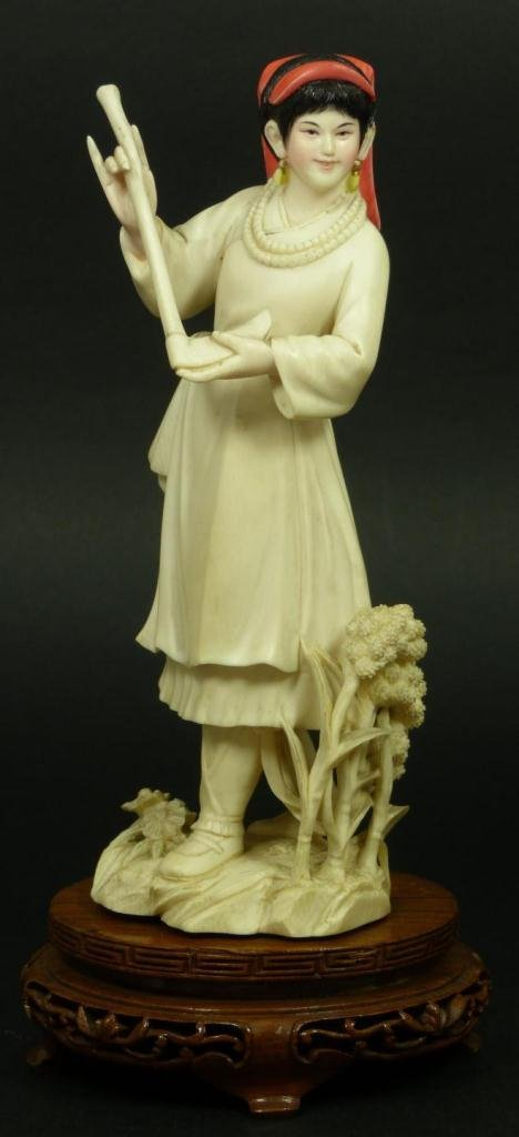 CHINESE CULTURAL REVOLUTION CARVED IVORY FIGURE