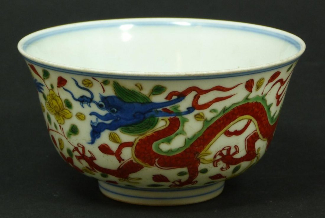 EARLY 18th CENTURY CHINESE WUCAI PORCELAIN BOWL