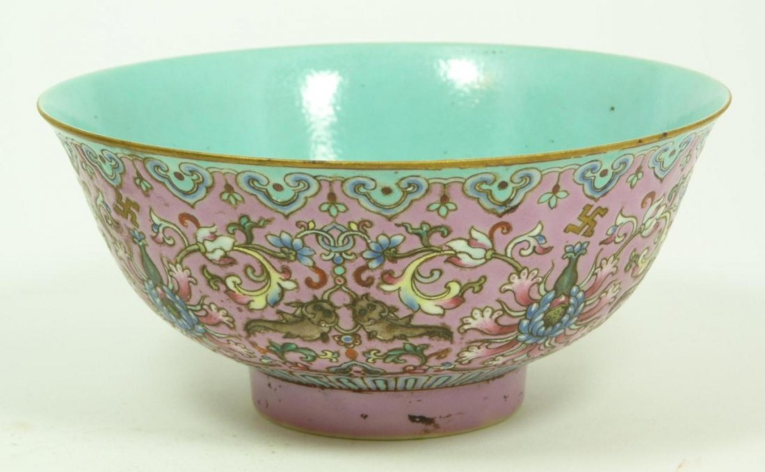 18th CENTURY CHINESE FAMILLE ROSE BOWL