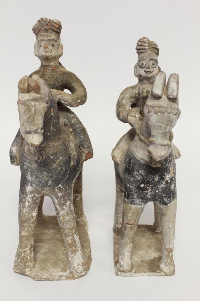 PR. CHINESE POTTERY HORSE ROOF TILES