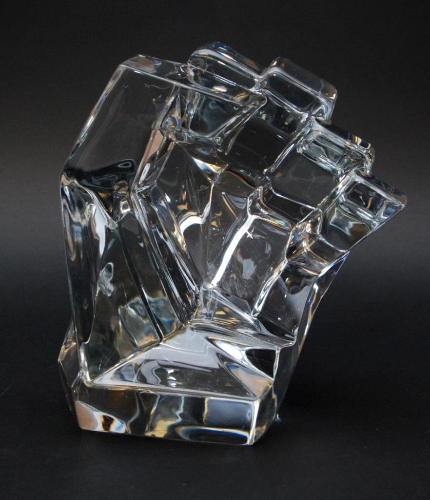 DAUM FRENCH CRYSTAL SCULPTURE OF FIST TONY MORGAN