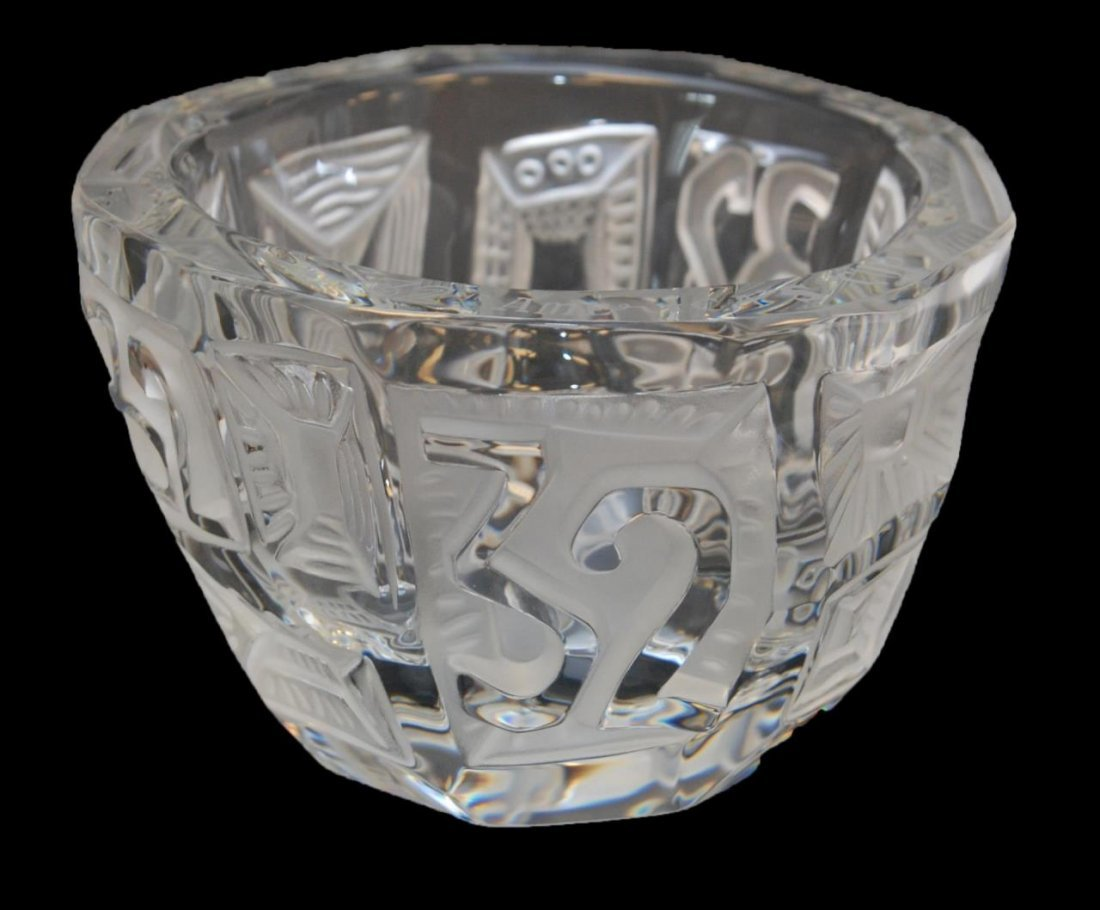 LALIQUE 'AMERICA'S 32nd CUP' BOWL BY J MARISCAL