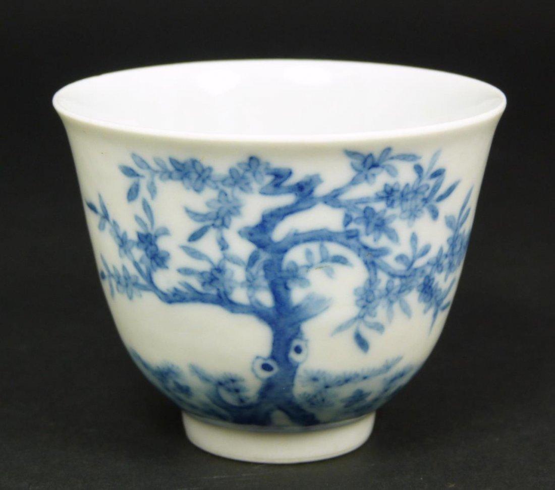 CHINESE KANGXI EGGSHELL PORCELAIN TEA BOWL