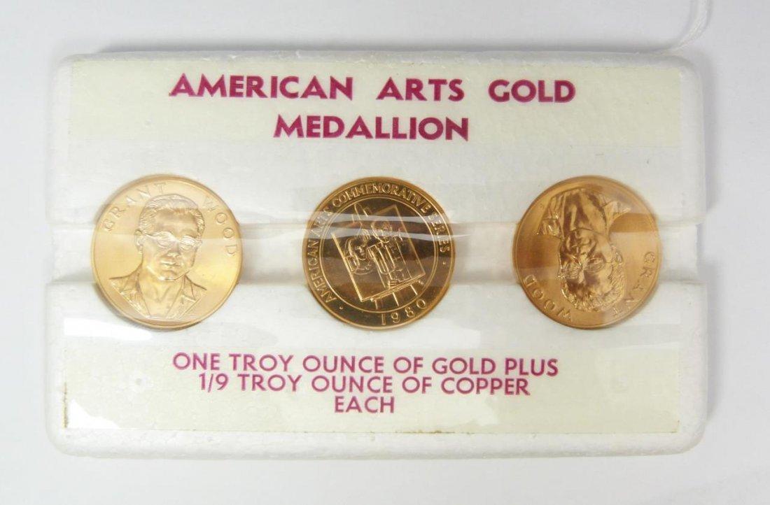 3 1980 GRANT WOOD GOLD BULLION COINS, 60DWT