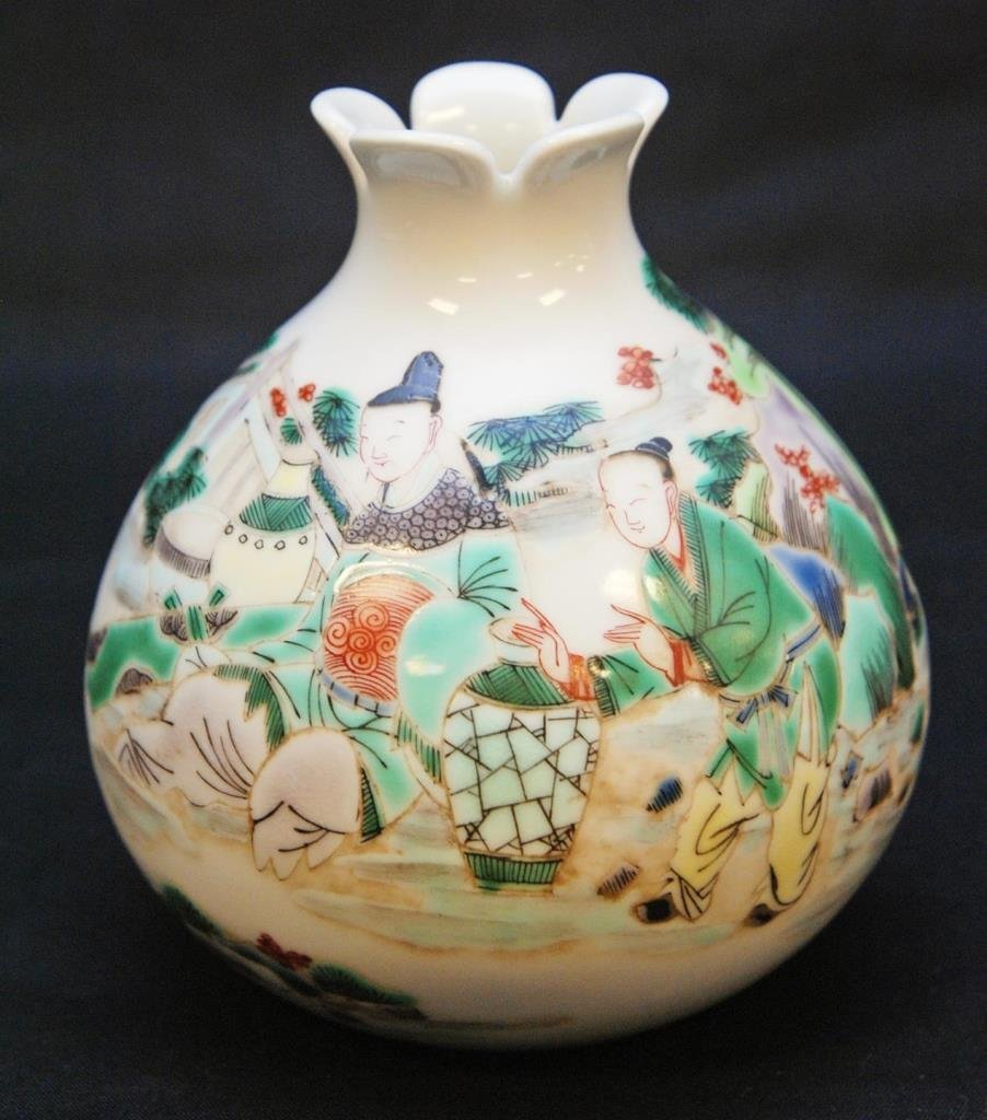 18th/19th C CHINESE PORCELAIN WUCAI POMEGRANATE
