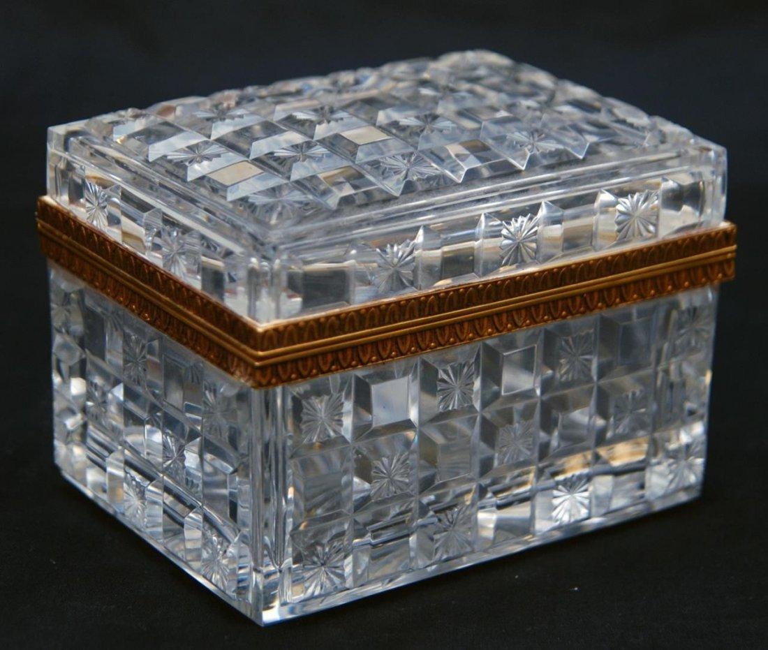 19th C BACCARAT FRENCH CRYSTAL HINGED BOX