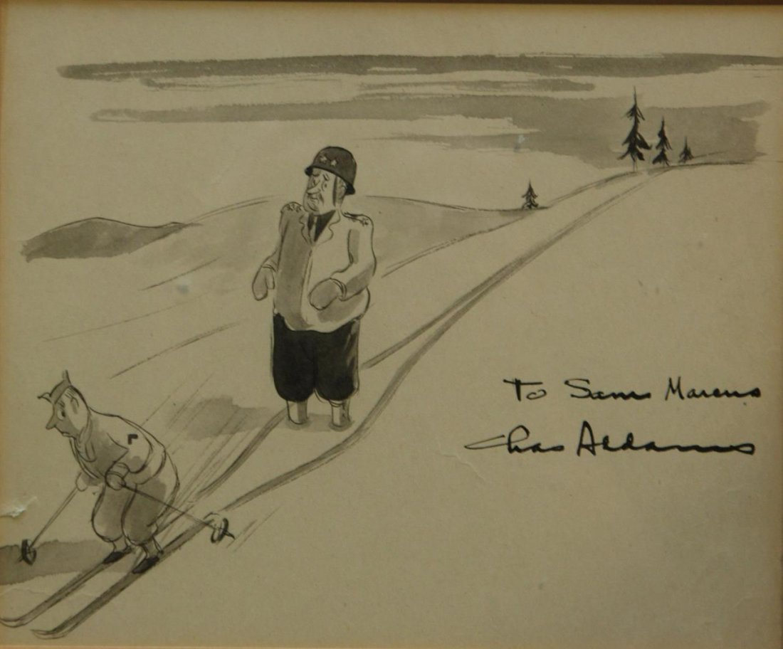 CHARLES ADDAMS ORIGINAL INK ON PAPER SIGNED