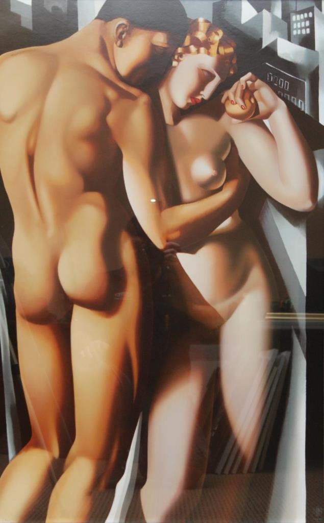 TAMARA DE LEMPICKA 'ADAM & EVE' SERIOGRAPH 125/135
